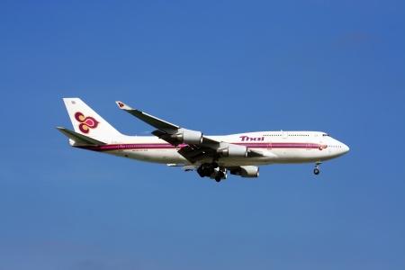 thaiairway boeing 747-400 Editorial