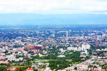 Chiangmai city, bird eye view photo