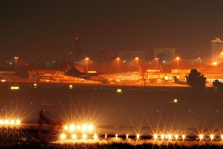 cnx, chiangmai international airport at night Stock Photo - 15079622