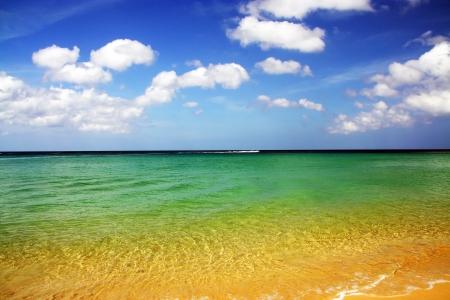 Clear sea and  bluesky