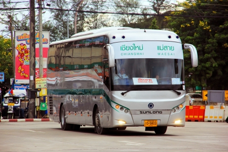 Greenbus chiang mai to maesai , The companys largest operating in north region.