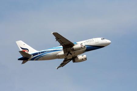 HS-PGT Airbus A319-100 BANGKOKAIRWAY, Takeoff to bangkok, from chiangmai