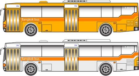 バンコク バス グラフィック  イラスト・ベクター素材