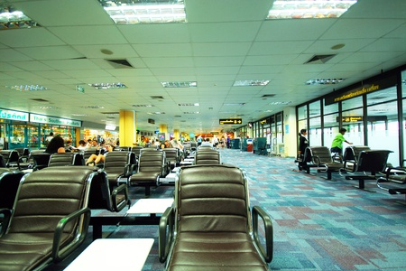 Phuket Domestic departure lounge area Stock Photo - 15485284