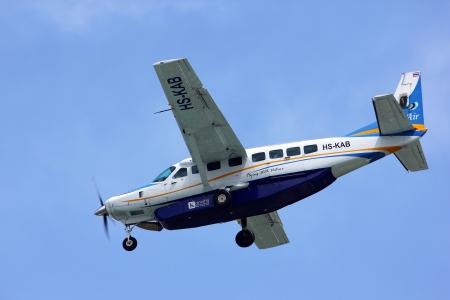 cessna:  Cessna Grand Caravan 208B of Kanair ,hs-kab landing to chiangmai airport, flight from Mae hong son.