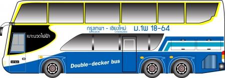 side profile: Double deck bus graphic