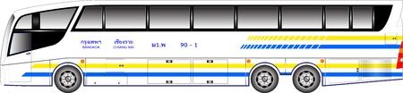 Super long bus 15 meter graphic Stock Vector - 15589676
