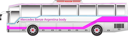 low floor: Bus graphic benze argentina body Illustration