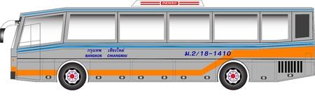 Bus graphic benze padane body Illustration
