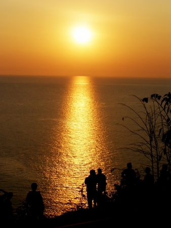 sunset at promthep cape, phuket thailand Stock Photo - 15701519