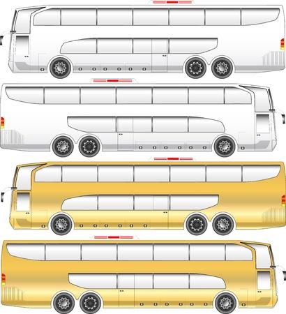 二重デッキのツアーのバスのグラフィック  イラスト・ベクター素材