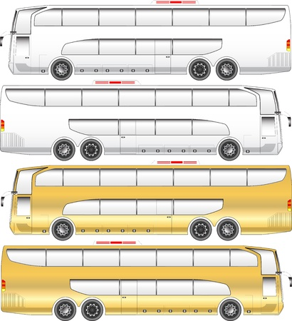 Double deck tour bus graphic Illustration