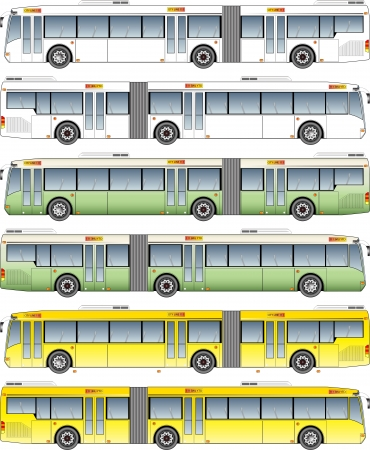 Long city  bus graphic Vector