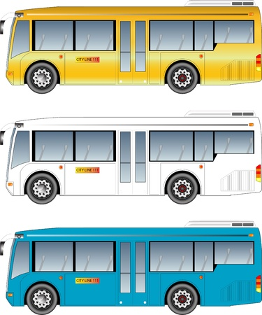 tourists stop: minibus graphic Illustration