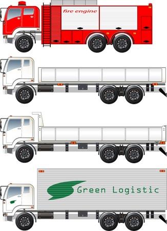 トラックのグラフィック