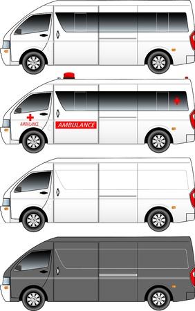 shuttle: van grafische Stock Illustratie
