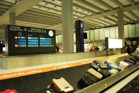 Baggage claim area, arrival hall, terminal 1, hongkong airport Stock Photo - 16205850