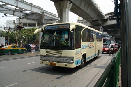 airport bus, from suvarnabhumiairport to city. Stock Photo - 16744662