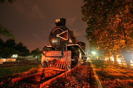 steam locomotive no 340, chiangmai train station