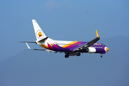boeing 737-800, Nokair, lowcost thailand airline Stock Photo - 17863764