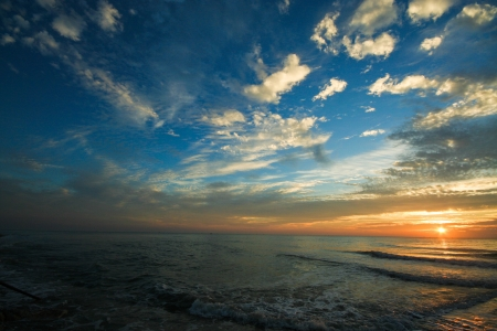 Sunrise at pranburi beach, thailand Stock Photo - 17948773