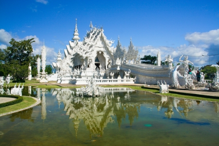 The famous temple of thailand, Wat Rong Khun White temple