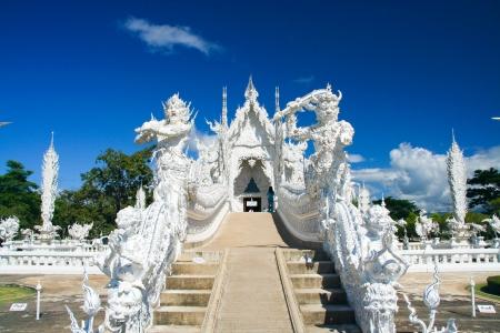 The famous temple of thailand, Wat Rong Khun White temple Banco de Imagens - 17948782