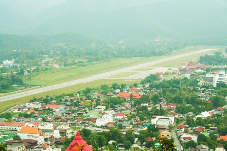 Mae hong son airport overview Stock Photo - 18114107