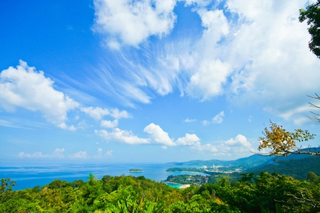 View point of phuket beach, phuket thailand photo
