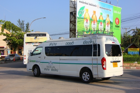 Greenbus Van, Routh chiangmai and lampang province. 1.30 hr on road..