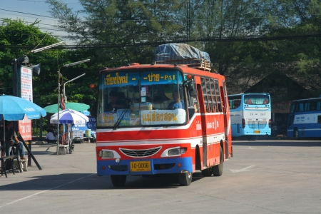 ฺBus, Van routh chiangmai and pai or Mae hong son Banco de Imagens - 18614010