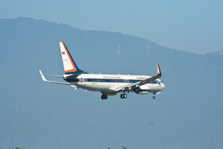 Boeing 737-8Z6BBJ of Royal Thai Air Force ,RTAF. Redakční