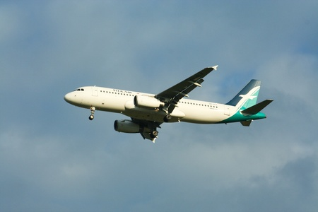 Airbus a319a320 of Silkair flight between singapore and chiangmai airport, Photo from chiangmai airport.