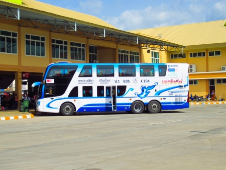 bus station: Nakhonchai tour, bus between chiangmai and nakhon ratchasima province, photo at chiangmai or bus station. Editorial