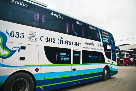 Nakhonchai tour, bus between chiangmai and nakhon ratchasima province, photo at chiangmai or bus station.
