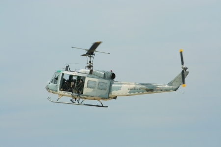 helicopter of royal thai airforce, photo from chiangmai province