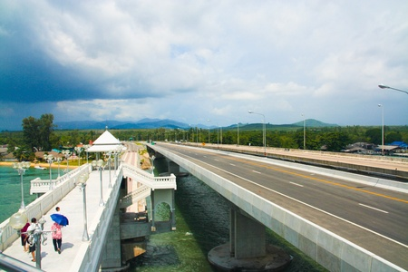 Sarasin bridge, connect phuket and pang nga province, across andaman sea.