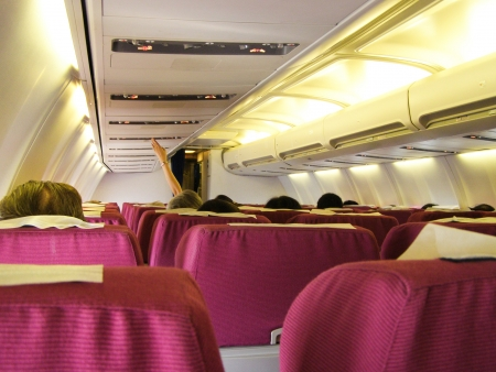 comercial: Cabin photo of Boeing 737-400 Nokair. photo inflight from bangkok and Phuket airport
