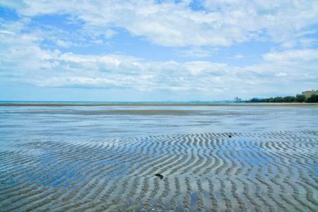cha: Cha am beach, Phetchaburi province, thailand