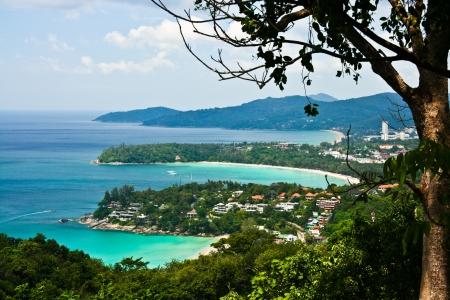 Bird eye view of Phuket viewpoint, Thailand