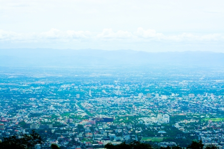 Bird eye view of Chiangmai city, thailand  photo