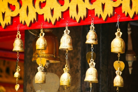 Bell for locky at wat prathat doi suthep photo