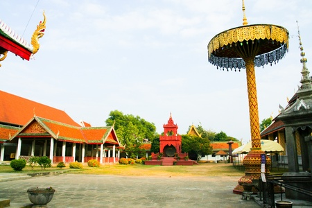 Phra that hariphunchai in lamphun province, thailand photo
