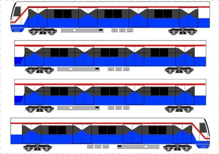 Sky train, Bangkok Thailand, Vector Illustration