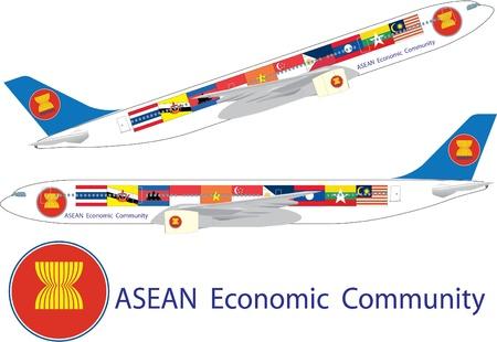 Aec flag on aircraft