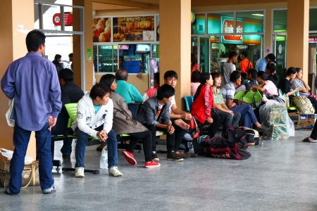 bus station: Passenger waiting for bus , chiangmai bus station