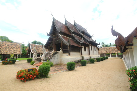 Chiangmai temple, Lanna thai  north thailand architecture, Wat ton kwan, chiangmai, thailand photo