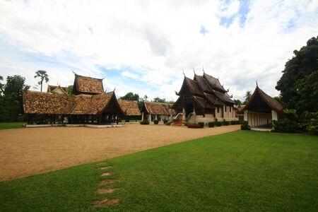 Chiangmai temple, Lanna thai  north thailand architecture, Wat ton kwan, chiangmai, thailand photo