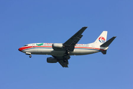 boeing 737-300 of china eastern airline, chiangmai airport, thailand