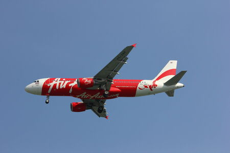 HS-ABP Airbus a320-200 of Thaiairasia landing to Chiangmai  airport
